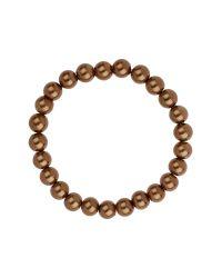 Mikey | Brown Plain Pearl Bracelet | Lyst