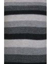 Minuet Petite Gray Grey Stripe Boat Neck Jumper