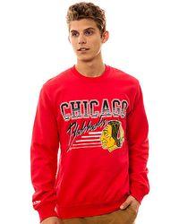 Mitchell & Ness | Red The Chicago Blackhawks Crewneck Sweatshirt for Men | Lyst
