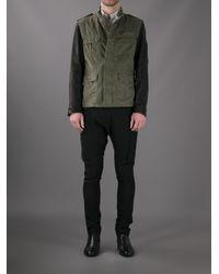 Neil Barrett - Green Bicolour Military Jacket for Men - Lyst