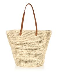 Oasis Natural Straw Shoulder Bag