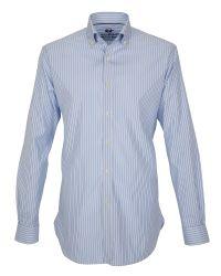 Paul Costelloe - Clara Blue Pinpoint Stripe Oxford Shirt for Men - Lyst
