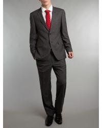 Paul Smith Gray Regent Super Slim Cross Hatch Suit for men