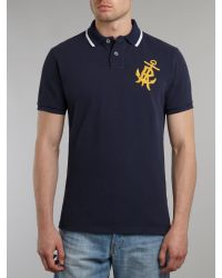 Polo Ralph Lauren - Blue Tipped Collar Custom Fit Polo for Men - Lyst