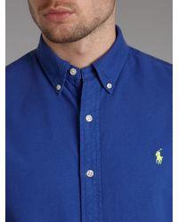 Polo Ralph Lauren Blue Classic Long Sleeved Shirt for men