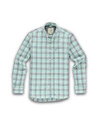 Racing Green   Blue Long Sleeve Aqua Check Shirt for Men   Lyst