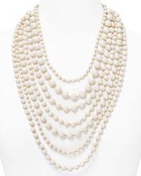 R.j. Graziano | White Multi Strand Beaded Necklace 32 | Lyst