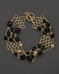 Roberto Coin - 18k Yellow Gold Confetti 5row Bracelet with Diamonds and Black Enamel 10 Ct Tw - Lyst