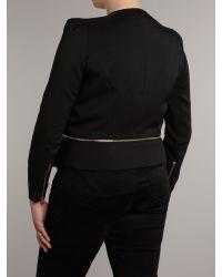 Samya Black Collarless Jacket