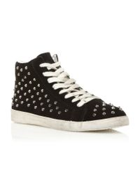 Steve Madden | Black Twynkle Sm Studded Trainer Shoes | Lyst