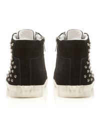 Steve Madden | Black Twynkle Sm Studded Trainer Shoes | Lyst