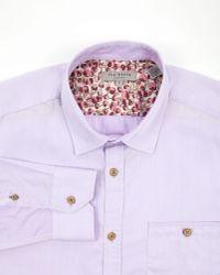 Ted Baker Purple Hevora Classic Shirt for men