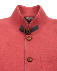 Ted Baker Orange Folded Button Through Top for men