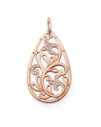 Thomas Sabo Pink Special Addition Large Teardrop Pendant