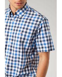 Tommy Hilfiger   Blue Ernesto Short Sleeve Check Shirt for Men   Lyst