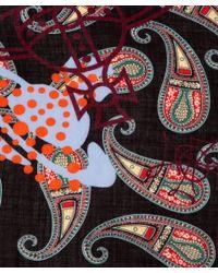 Vivienne Westwood Black Paisley Wool Shawl for men