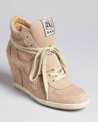 Ash Natural Wedge High Top Sneakers Bowie