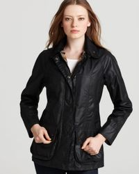 "Barbour | Blue ""beadnell"" Waxed Cotton Jacket 