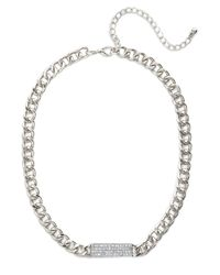 BaubleBar | Metallic Druzy Ball Chain Pendant | Lyst