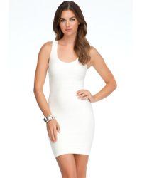 Bebe White Haley Shine Bodycon Dress