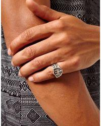 Replay - Metallic Boom Bap Wear Eagle Crest Ring for Men - Lyst