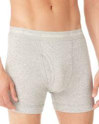 Calvin Klein Gray Knit Boxer Briefs, 3 Pack for men