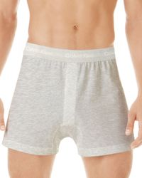 Calvin Klein - Gray Classic Knit Boxers, Pack Of 3 for Men - Lyst