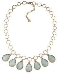 Carolee | Metallic Goldtone Drop Pendant Necklace | Lyst