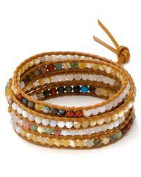 Chan Luu - Natural Five Wrap Leather Bracelet - Lyst