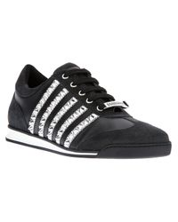 DSquared² - Black Studded Sneaker for Men - Lyst