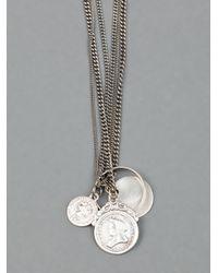 Goti Metallic Coin Pendant Necklace for men