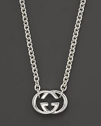 Gucci | Metallic Sterling Silver Britt Necklace 18 | Lyst