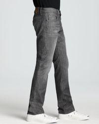 J Brand Gray Jeans - Kane Slim Straight Fit In Ricochet for men