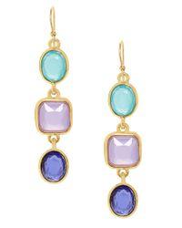 kate spade new york Multicolor Goldplated Stone Drop Earrings