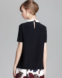 Marc By Marc Jacobs - Black Top Alex Silk Crepe De Chine - Lyst
