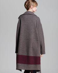 Marc By Marc Jacobs Purple Sweater Coat Sam Wool