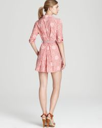 Marc By Marc Jacobs Pink Shirt Dress Jamie Dot