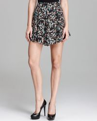 Pjk Patterson J. Kincaid Black Skirt Nola Floral Printed