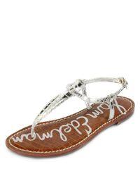 Sam Edelman Metallic Gigi Flat Sandals