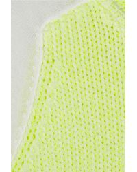 Tibi Yellow Neon Chunky and Fine knit Sweater