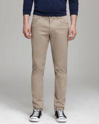 Vince Natural Five-Pocket Twill Trousers - Slim Fit for men