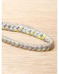 Alyssa Norton Yellow Sterling Silver and Braided Silk Bracelet