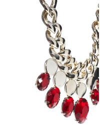 ASOS - Metallic Limited Edition Eastern Jewel Necklace - Lyst