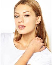 ASOS - Metallic Multipack Arrow Chain Linked Earrings - Lyst