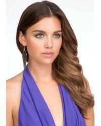 Bebe - Gray Tassel Earrings - Lyst