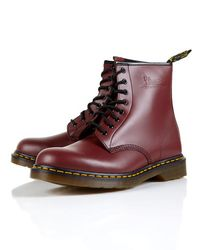 Dr. Martens | Red Dr Martens Broken in 8-eye Boots for Men | Lyst