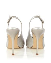 Karen Millen Metallic Screen Style Sling Back Court Shoes