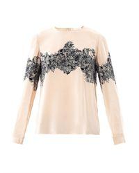 Vanessa Bruno | Multicolor Floral-print Silk Blouse | Lyst