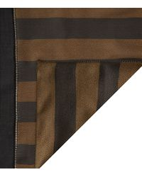 Fendi - Brown Pequin Print Silk Scarf - Lyst