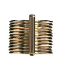French Connection - Metallic Multi Stacked Ring Set - Lyst